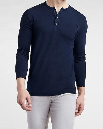 8f8d4c98f Express View · slim supersoft long sleeve henley t-shirt