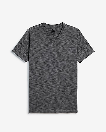 8d11b9a9eda80f Express View · slim stretch space dyed v-neck t-shirt