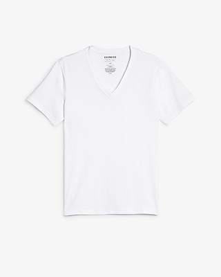 Slim Supersoft Deep V Neck Tee by Express