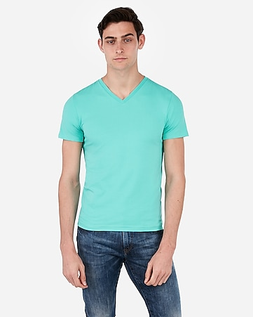 52a0faacb070 Express View · slim stretch v-neck t-shirt