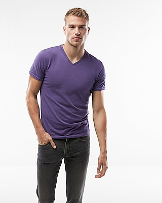 Heathered Flex Stretch V Neck Tee by Express
