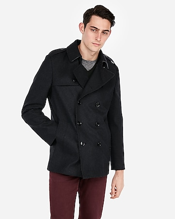 7214235c9535 Express View · recycled wool water-resistant peacoat