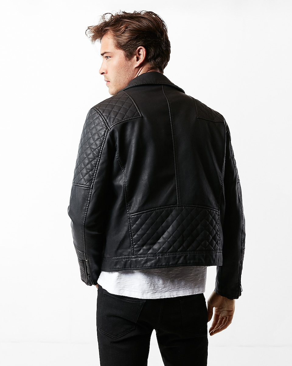 minus The) Leather Quilted Asymmetrical Moto Jacket | Express : express quilted leather jacket - Adamdwight.com