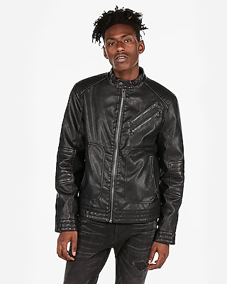 Men S Faux Leather Jacket Faux Leather Jackets