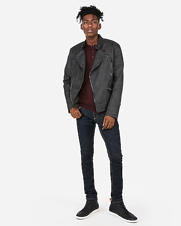 bc6520478f9 Express View · (minus the) leather distressed asymmetrical moto jacket