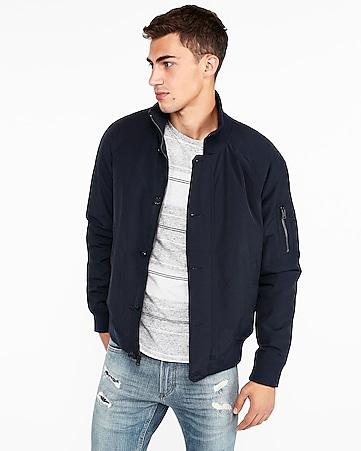 express view nylon bomber jacket