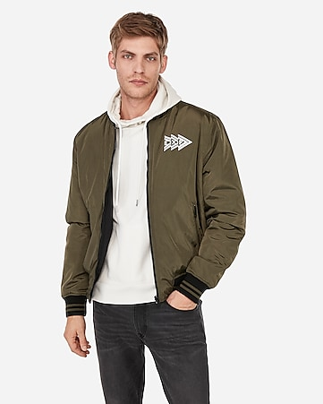 084e0e2629 Express View · brand that unites reversible bomber jacket