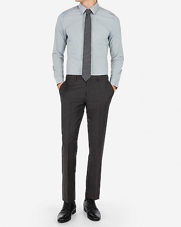 5cc64463b09b0e Express View · slim charcoal wool-blend stretch suit pant