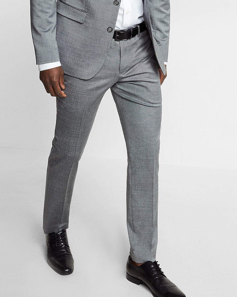 Extra Slim Gray Wool Blend Oxford Suit Pant | Express
