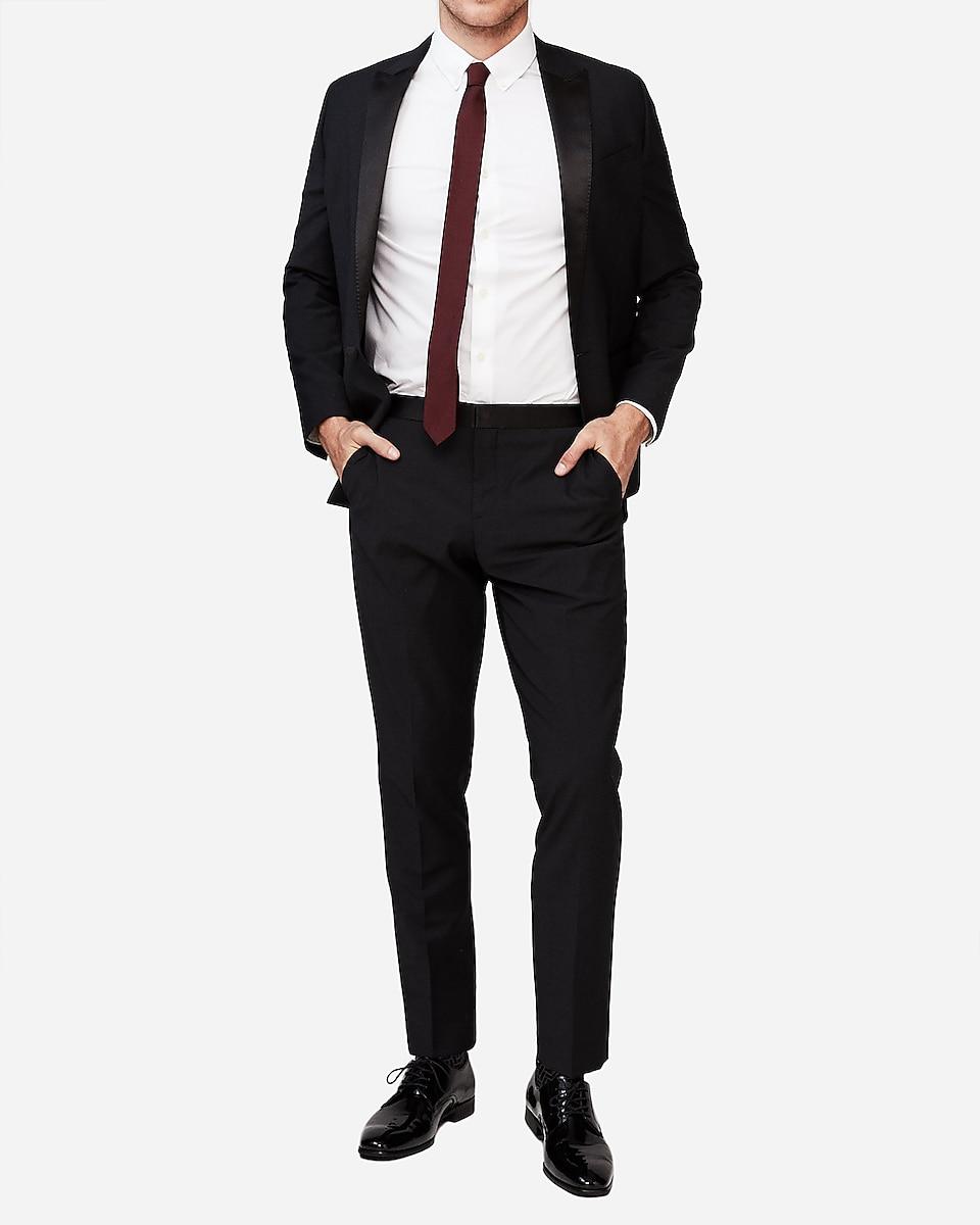 688691959c0e Express View · slim black performance stretch wool blend tuxedo pant