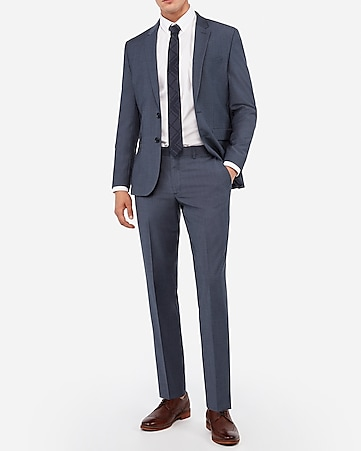 69c6e27ce8ef Express View · extra slim blue performance stretch wool-blend suit pant