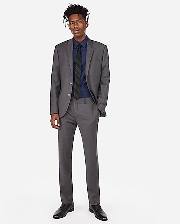 bf2fdabe46 Express View · extra slim gray flannel wool-blend 365 comfort suit pant