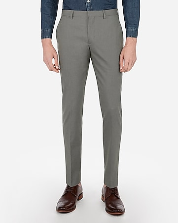 1d17ff0a extra slim olive green cotton texture stretch suit pant. EXPRESS VIEW