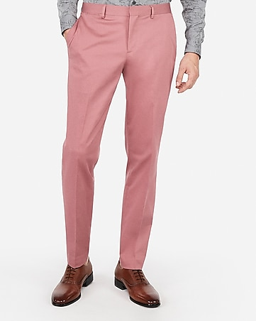 4cf88d2c21 Express View · slim pink cotton sateen performance stretch suit pant