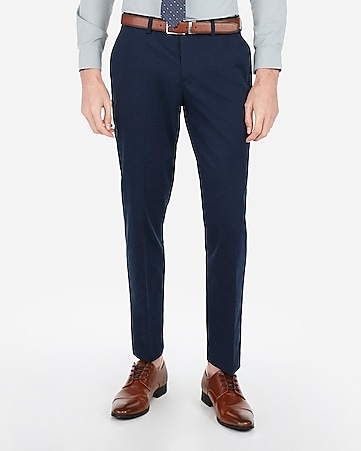566aa0c97907da Express View · slim navy cotton blend performance stretch suit pant