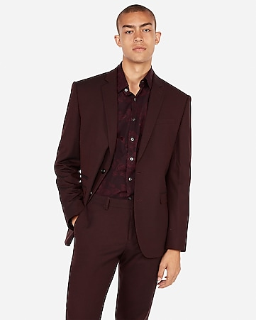 Mens Maroon Suit zotp