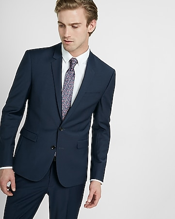 extra slim navy performance stretch wool-blend suit jacket 39ffc6c6d10e