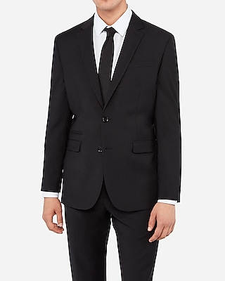 Slim Black Wool-blend Performance Stretch Suit Jacket | Express