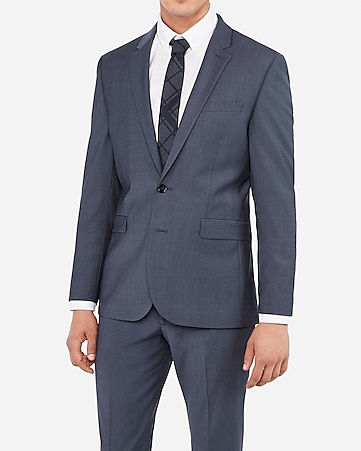 ed568fedfe Express View · extra slim blue performance stretch wool-blend suit jacket