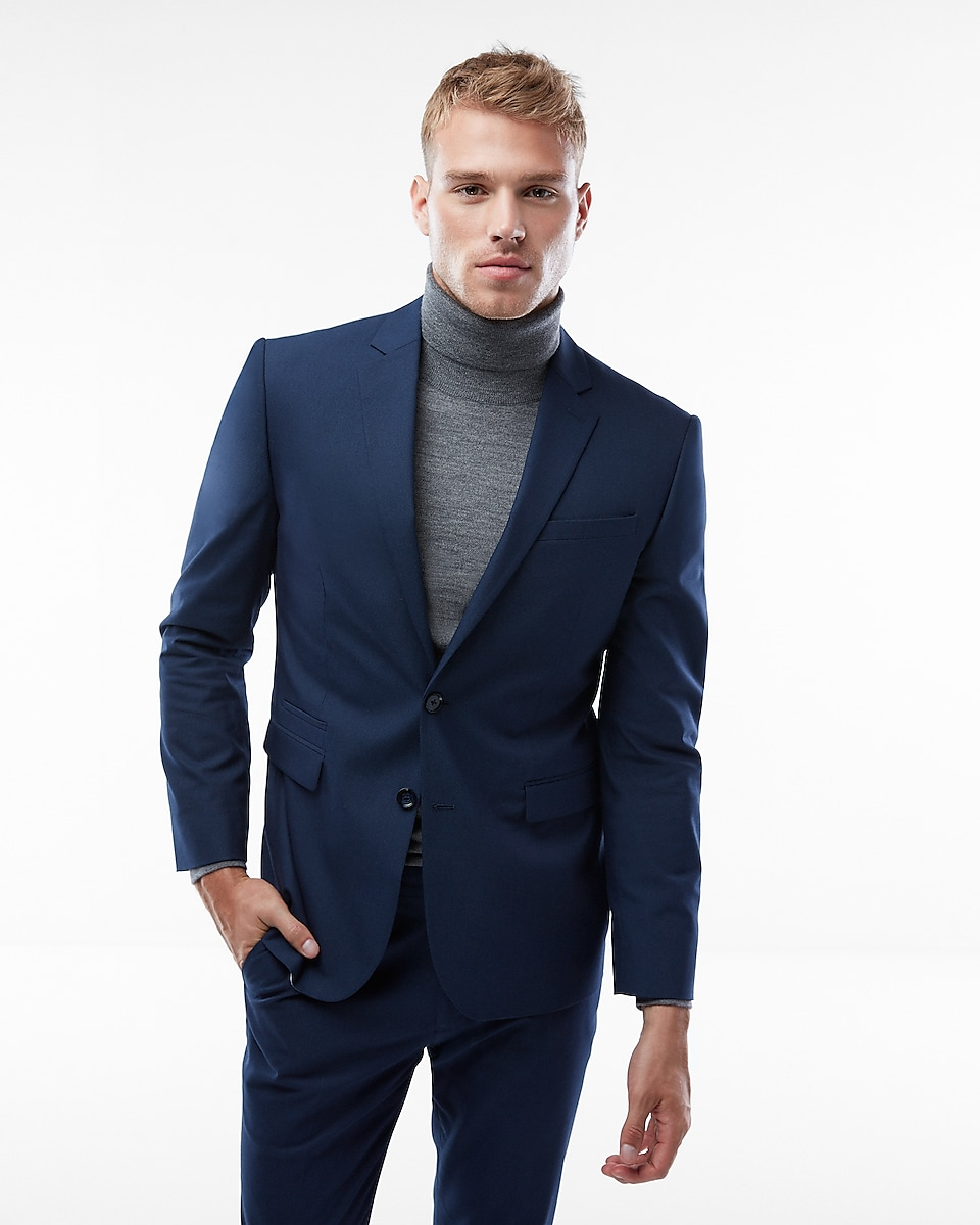 Slim Navy Blue Suit Jacket | Express