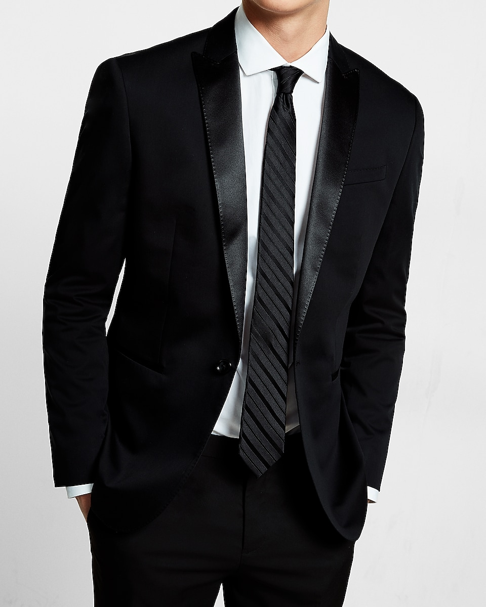 0e5c051acee3 Express View · slim black cotton sateen tuxedo jacket