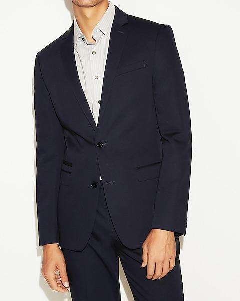 65370ebf9 Slim Navy Cotton Sateen Suit Jacket | Express