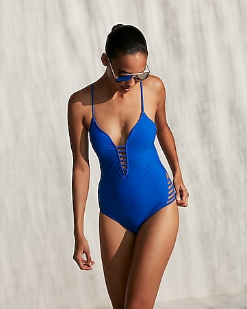 b0a1789b5eb Strappy Open Back One-piece Swimsuit