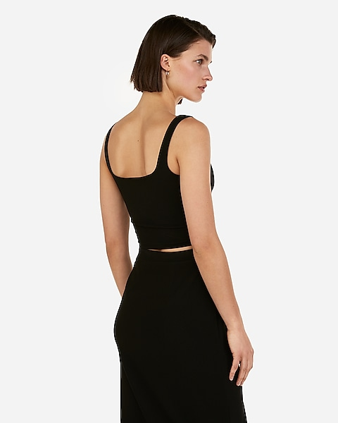 2d82f8a358 Square Neck Ribbed Tank | Express