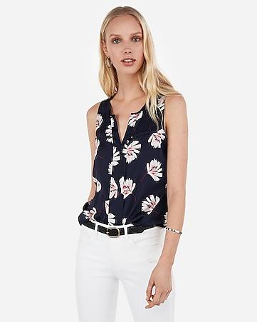 99c86ba88ab66 satin slim fit sleeveless portofino shirt.  39.90.  39.90. satin printed  v-neck hudson tank