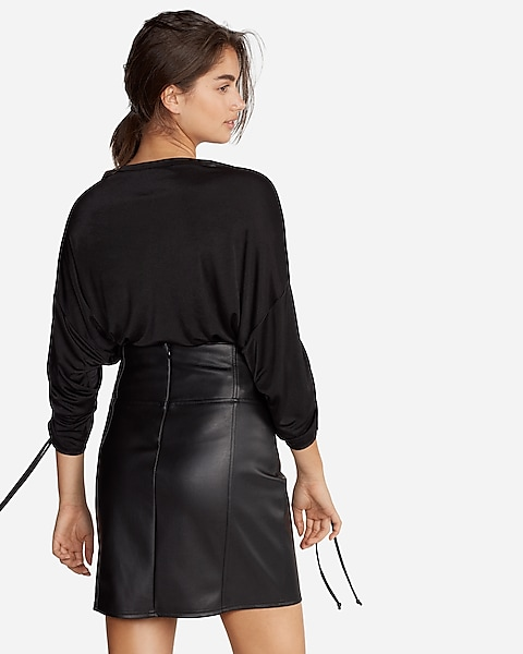 a00400a8b6 Ruched Long Sleeve Top   Express