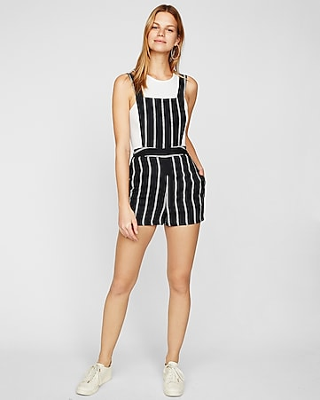 38558092ce1 Striped Overall Shorts