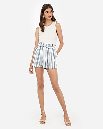 02158242170436 Women's Paperbag Waist Pants - Paperbag Shorts & Skirts - Express