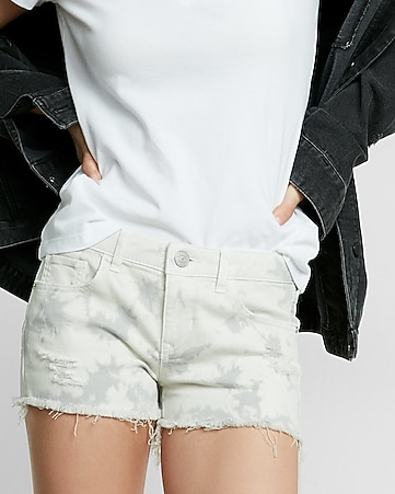 low rise dyed denim cutoffs