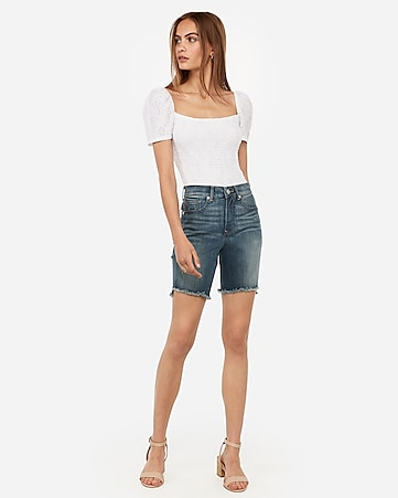 6f3fa2146 high waisted denim perfect curves bermuda shorts