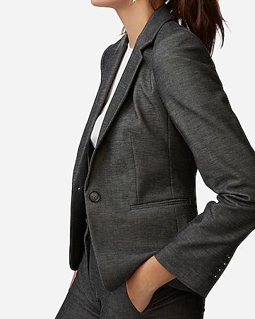 066bc0a0729 Express View · notch collar one button blazer