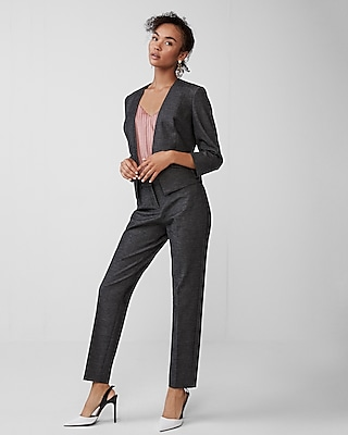 petite one button cutaway blazer