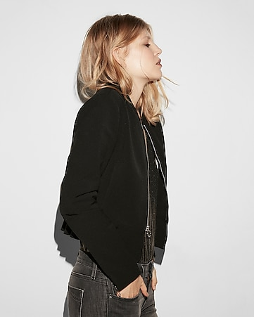 Quilted Shoulder (minus The) Leather Jacket | Express : express quilted leather jacket - Adamdwight.com