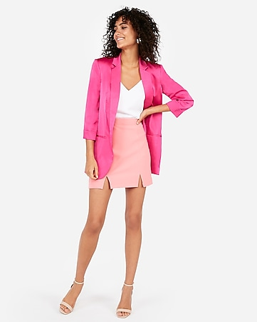 Express View · notch collar boyfriend blazer 1ec1779dc