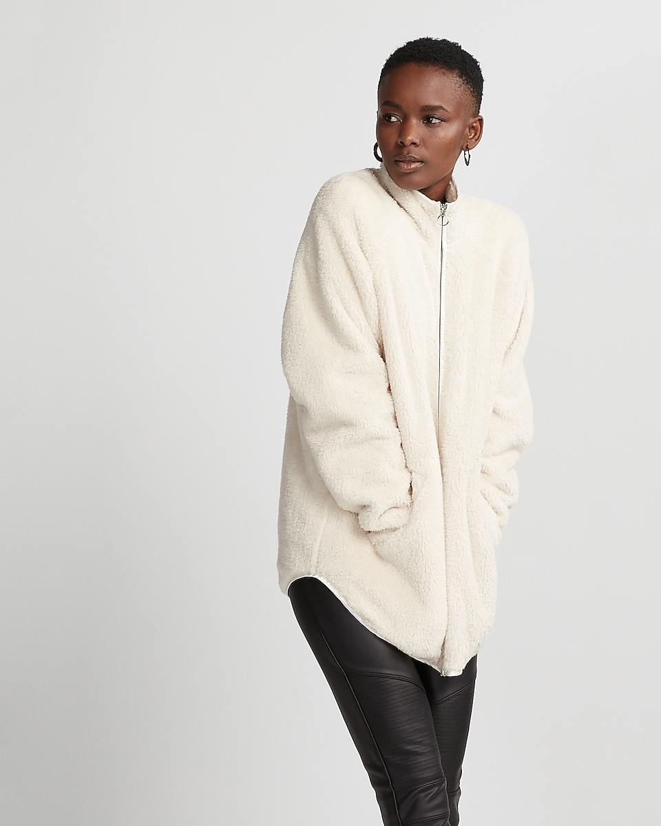Oversized Fleece Jacket | Express