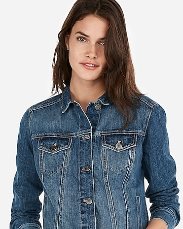 3d00d272dc0e9 Express View · medium wash denim trucker jacket