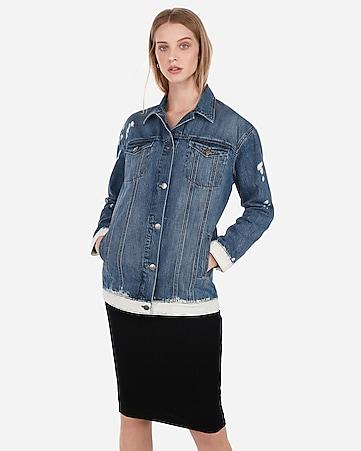 366220bf2f Express View · bleached denim boyfriend jacket