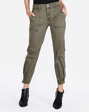 26482942dc4b Express View · high waisted straight cropped cinched hem utility pant