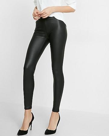 c8ae244a5689 Petite Faux Leather Leggings