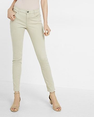 mid rise five pocket stretch leggings