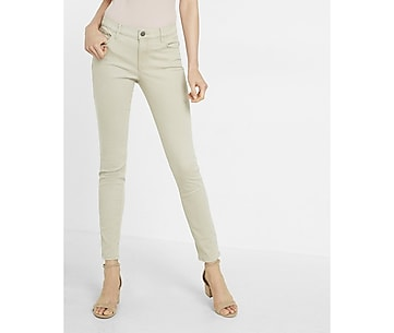 petite mid rise five pocket pant
