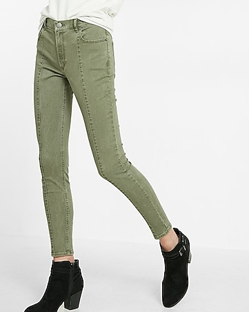 high waisted front seam stretch ankle legging