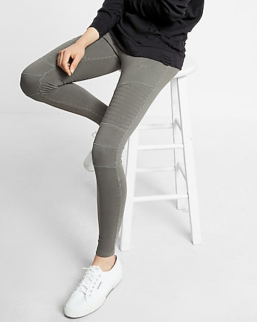 44ea22dc5e335 Express View · garment dyed moto ankle leggings