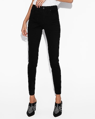 high waisted black jean leggings