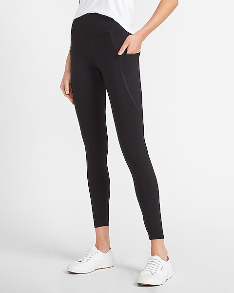 High Waisted Sexy Stretch Pocket Leggings Express