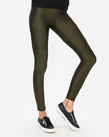 45db40ffd031 Express View · high waisted seamed shine leggings